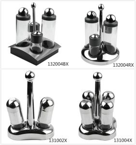 Stainless Steel Condiment Cruet Set with PC Body pictures & photos