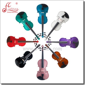 Top Sale Laminated Wood Body Hardwood Fittings Student Violin (VG001) pictures & photos