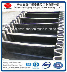 Heat Resistant Conveyor Belt with Sidewall pictures & photos