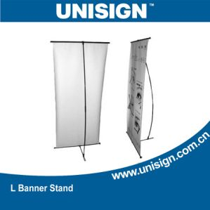Adjustable L Banner Stands for Advertising pictures & photos