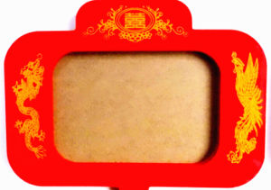 Red Chinese Traditional Happy Wooden Frame with Silk Fringe pictures & photos