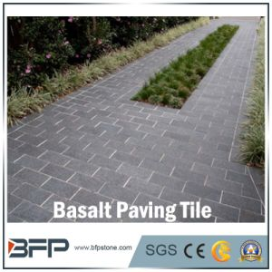 Natural Polished Stone Tile Basalt for Paving/Flooring/Stairs/Wall/Bathroom/Kitchen Tile pictures & photos