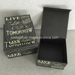 3 Set of Popular Square Paper Gift Boxes with Slogans Printing pictures & photos