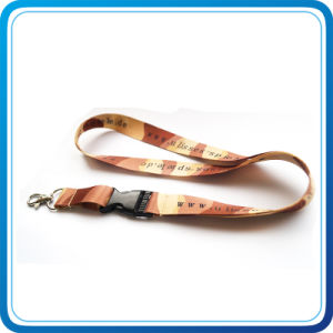 Fashion Flat Promotion Gift Polyester Material Lanyard pictures & photos