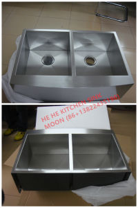Kitchen Sink, Sink, 304 Stainless Steel Sink, Handmade Sink, Double Bowl with Drainer Board 11548A pictures & photos