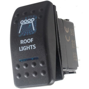 Marine Boat Car Blue LED Spot Light Rocker Switch 5pins Spst on/off 12V/24V pictures & photos