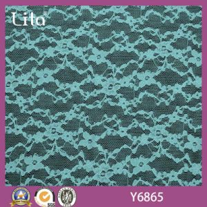 Voile Lycra Flexible Lace Fabric for Underwear