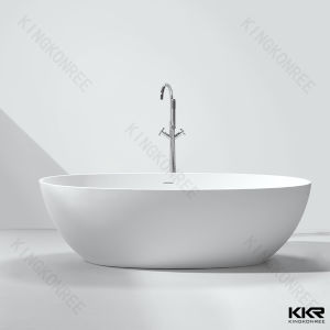 Hotel Project Resin Stone Freestanding Classical Round Bathtub pictures & photos