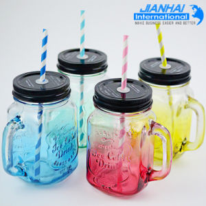 Promotion Glass Mason Jar with Handle pictures & photos