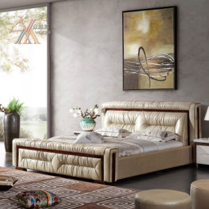 Leather Bed for Bedroom (2101+61) pictures & photos