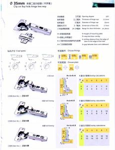 210-07 Clip on Key Hole Hinge Two Way Furniture Hinge pictures & photos