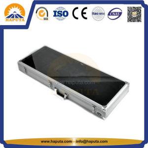 Black Aluminium Instrument Case Guitar/Violin Flight Case with Handle (HT-5215) pictures & photos