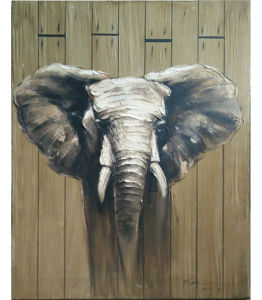 Modern Abstract Handmade Canvas Elephant Painting (LH-M170509) pictures & photos