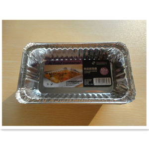 Kitchen Recycling Rectangle Aluminum Foil Container pictures & photos