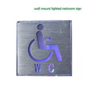 Wall Mount Lighted Restroom Signs Toilet Sign Board pictures & photos