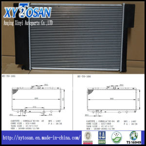 Radiator for Toyota Engine Carolla 92-95 pictures & photos