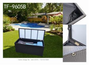 Aluminum Frame Waterproof Outdoor Cushion Storage Box/ Rattan Cushion Storage pictures & photos
