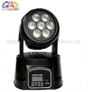 Mini Disco DJ Lights 7PCS X 12W RGBW Wash 4 In1 Moving Head Light Stage for Sale pictures & photos