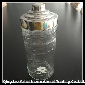 1800ml Glass Storage Jar with Metal Lid pictures & photos