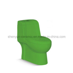 One-Piece Toilet Ceramic Color Toilet (A-032) pictures & photos