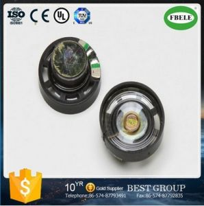 Fbf27-1L 27mm Round Shape Plastic Frame Inner Magnet Mylar Speaker (FBELE) pictures & photos