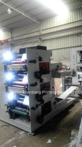 Flexo Printing Machine 3 Color 420mm for Bandage Package Film Paper pictures & photos