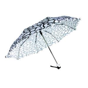 Water Ripple Print Foldable Duomatic Satin Umbrellas (YS-3FD22083903R)