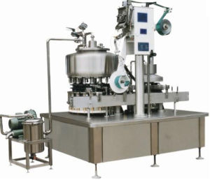 Full Automatic HDPE Bottle Juice Filling and Aluminum Foil Sealing Machine pictures & photos