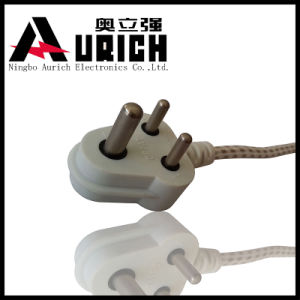 220V Non-Rewirable India Power Cables 3 Pin South Africa Plug Factory Promotion Price AC Power Cord with IEC Plug pictures & photos