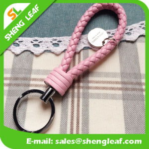 Promotional Metal Knitted PU Leather Keychain (SLF-LK002) pictures & photos