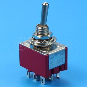 on-on 3pole 9 Pin Miniature Toggle Switch (MTS-302) pictures & photos