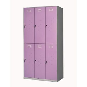 Cheap Metal Wardrobe-6 Doors with Lock pictures & photos