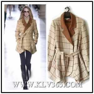 2016 Women Fashion Designer Winter Wool Jacket Coat
