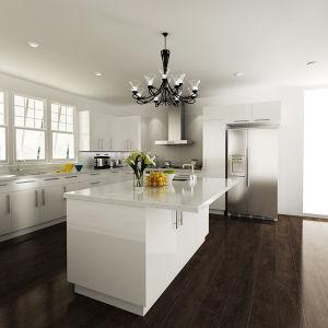 Australia Project White Lacquer Mdf Kitchen Cabinet Op14 L01