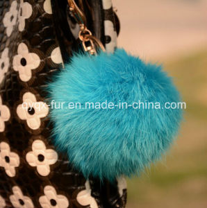 Factory Wholesale Real Rabbit Fur Ball Keychain for Decoration pictures & photos