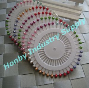 38mm Pearl Round Ball Head Corsage Pin for Hijab (P160114F)