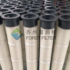Forst Metal/Rubber Cap Top Install Pleated Dust Cartridge Filter pictures & photos