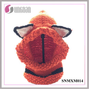 Europe Winter Lovely Ear Fox Child Collar Hand-Knitted Hat (SNMXM014) pictures & photos