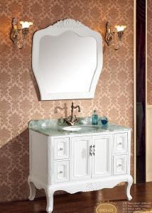 Antique Style White Oak Solid Wood Bathroom Vanity pictures & photos