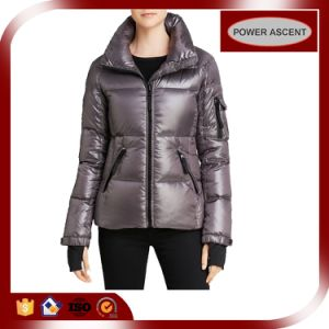 2015 Ladies Bright Color Full Zipper Winter Down Jacket pictures & photos