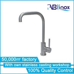 Cupc Simple Design Stainless Steel Kitchen Faucet Ab105 pictures & photos