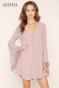 Fashion Crochet-Trim Mini Dress pictures & photos