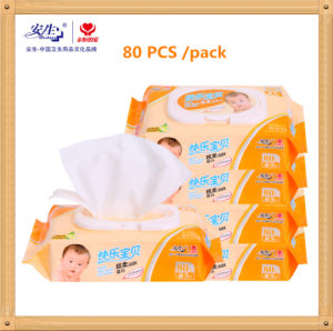 80 PCS Economic Baby Organic Non-Woven Disposable Wet Wipe pictures & photos