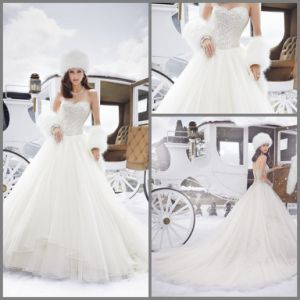 Strapless Bridal Gowns A-Line Beads Wedding Dresses Sh21506 pictures & photos