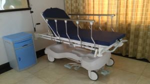 Sjm006-a Luxury Hydraulic Rise-and-Fall Stretcher Cart pictures & photos