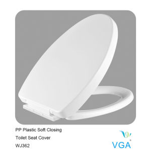 Toilet Seat Cover with Soft Closing Solid Color Wj362