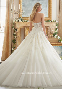 Sweetheart Bridal Ball Gowns Lace Corset Tulle Wedding Dress 2017 Mrl2877 pictures & photos