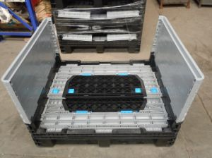 HDPE Warehouse Logistic Plastic Pallet Box Container pictures & photos