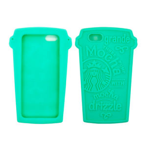 Coffee Cup Shape Silicone Cell Phone/Mobile Case for iPhone 5/6/6p