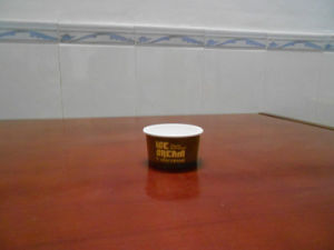 Small Capacity Disposable Ice Cream Container with Logo Printing